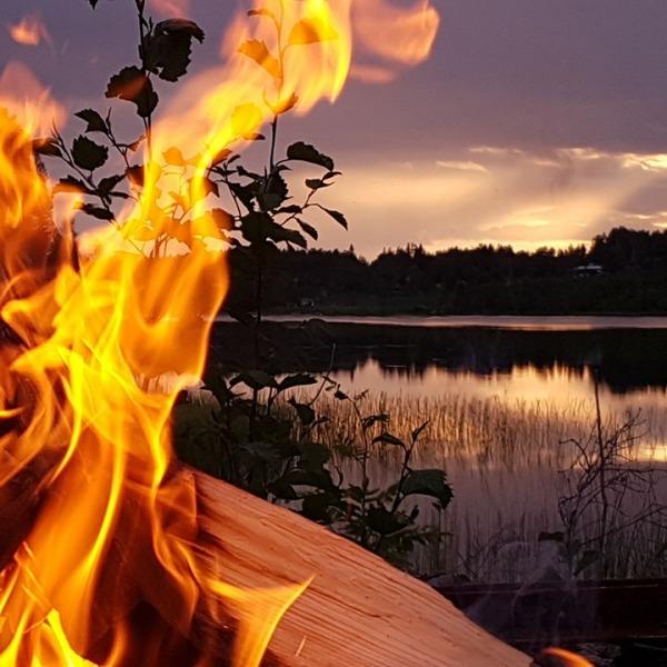 feu de camp, Laponie Suédoise