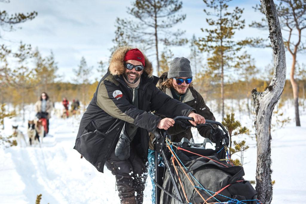 séjour raid en traîneau à chien en Laponie, Suède