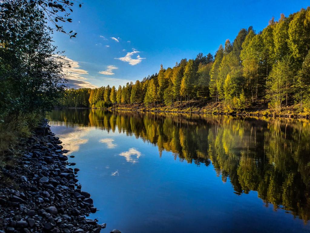 Spot de pêche au saumon Laponie suédoise