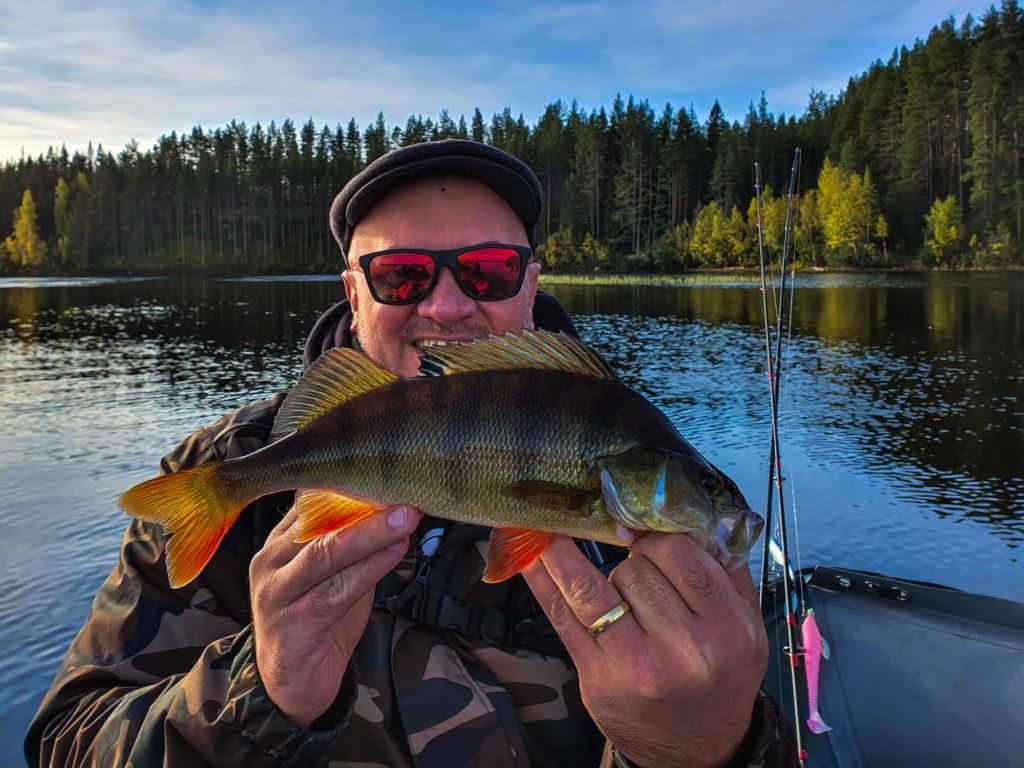 Une belle perche en Laponie suédoise