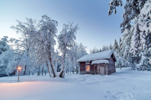 Cabane dans le Grand Nord
