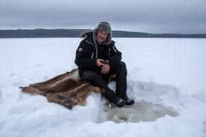 Pêche blanche en Suède