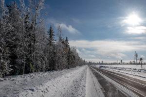 Route glacée en Laponie suédoise