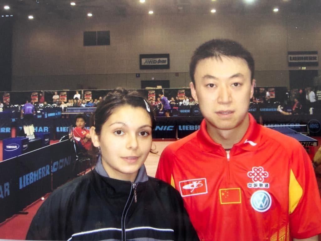 Ma Lin aux championnats du monde de tennis de table en 2005